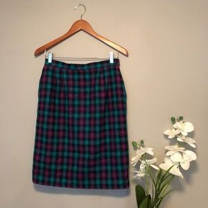 VTG Plaid Skirt